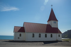 Vk  Mrdal - Vkurkirkja (sarahmonious) Tags: vk vkmrdal vik vikimyrdal vkurkirkja vikurkirkja church cliffs ringroad goldencircle route1 route1iceland iceland iceland2016 icelanding2016 traveling