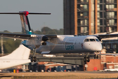 LX-LGG - Bombardier DHC-8-402NG [4418] - Luxair - London City - 26 August 2016 (Leezpics) Tags: londoncityairport bombardier lxlgg luxair regionalairliners 26august2016 dash8 lcy airliners commercialaircraft