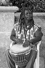 Portraits from the street - Brighton (Finding Chris) Tags: brightonandhove hove beach busker drumming dreadlocks portraits streetportraits bw blackandwhite