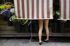 (elkogan) Tags: drape legs market nyc newyorkcity manhattan street figure colorstreetphotography streetphotography