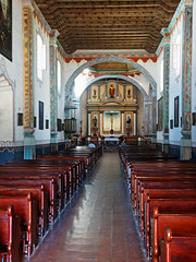 Mission San Luis Rey Sanctuary and Altar (inkknife_2000 (7 million views +)) Tags: missionsanluisrey californiamissions elcaminoreal cemetery catholicchurch dgrahamphoto usa landscapes catholicsanctuary catholicaltar crucifix