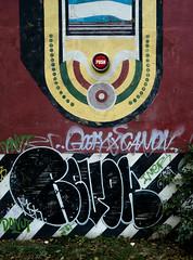 HH-Installations 1787 (cmdpirx) Tags: hamburg germany reclaim your city urban street art streetart artist kuenstler graffiti aerosol spray can paint piece painting drawing colour color farbe spraydose dose marker stift kreide chalk stencil schablone wall wand nikon d7100 installation install cement glue kleber klebstoff tile kachel styrodur styropor vinyl lp cd style guerilla knitting yawn bombing tape inst cutout yarn revok