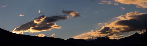 Panorama Abendsonne