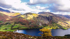 The Power of Colour, Buttermere, Lake District (throzen) Tags: uk england united kingdom europe 2016 color colour lake landscape cumbria sky cloud mountain mountains mountainside shade hills hillside blue green tree trees view views buttermere district outdoor outdoors hill