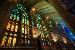 Sagrada Família III (Rory Prior) Tags: stainedglass gaudí cathedral spain sagradafamília barcelona