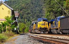 Highball Thurmond! (Andy Chabot) Tags: railroad station train track diesel railway transportation co locomotive coal ge signal freight chabot csx thurmond