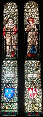 [29058] St Michael, Macclesfield : Werburgh & Eleanor (Budby) Tags: church window cheshire stainedglass williammorris preraphaelite macclesfield