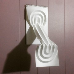 (mike.tanis) Tags: paper paperart notebook origami surrealism magic surreal papersculpture curvedcrease