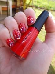 Tulipa - Avon / Turmalina - Risqué. (Raíssa S. (:) Tags: glitter vermelho nails anita nailpolish avon unhas risque roxo esmalte cremoso