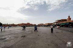 Jamaa el Fna deserta di giorno (andrea.prave) Tags: morocco maroc marocco marrakech souk marrakesh suk suq jamaaelfna   moroccans almamlaka marocchini marocains   sq  visitmorocco almaghribiyya  jmielfn tourdelmarocco