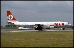 OD-AGV - Copenhagen Kastrup (CPH) 25.06.1993 (Jakob_DK) Tags: 1993 boeing 707 cph mea kastrup boeing707 b707 magleby ekch middleeastairlines 707300 airliban b707300 707300c