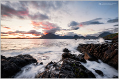 Lost In Elgol Remastered (Patrick Giardina) Tags: light sunset sea summer sky mountains skye water colors clouds montagne boats flow island scotland rocks tramonto nuvole mare waves estate wind barche hills cielo rocce acqua colori isle luce colline vento onde isola corrente scogli scozia elgol 2013