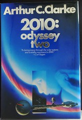 """2010: Odyssey Two"" by Arthur C. Clarke. NY: Ballantine Books, (1982). First Trade Edition. Jacket Art by Michael Whelan (lhboudreau) Tags: sf fiction illustration book 1982 europa drawing illustrations drawings books story novel sciencefiction jupiter odyssey discovery whelan arthurcclarke 2010 bookart hardcover ballantine dustjacket firstedition spaceodyssey jacketart michaelwhelan hardcovers davidbowman davebowman hardcoverbooks ballantinebooks jupitersmoon leonov hardcoverbook odysseytwo sciencefictionnovel spacechild 2010odysseytwo sciencefictionstory fictionstory fictionnovel dustjacketart ballantinebook spaceshipdiscovery sovietspacecraft"