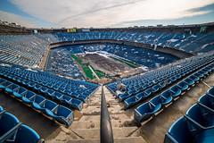 DSC01459 (ArchitecturalAfterlife) Tags: green history abandoned broken football stadium decay michigan adventure explore urbanexploration pontiac urbanexploring urbex silverdome