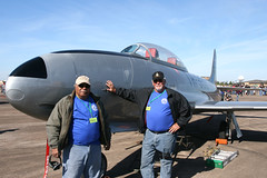 IMG_3801 t33 crew woh14 (Zane Adams.TX) Tags: airplane texas airshow warbirds caf 2014 wingsoverhouston