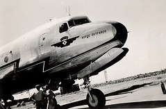 Braathens DC-4 LN-HAT, nose shot, late 1940s (Proplinerman) Tags: aircraft douglas 1949 airliner skymaster braathens dc4 c54 propliner lnhat norseskyfarer