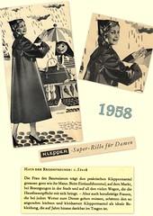 Kleppermode 1958 (dykthom1000) Tags: fashion vintage 1958 raincoat mode rainwear klepper regenmantel kleppermantel kleppermode
