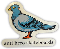 ANTI-HERO TODD FRANCIS CAPSULE PIGEON MED STICKER (oldskullskateboards.com) Tags: old school art look francis book graphics sticker soft graphic skateboarding pigeon deluxe capsule away stranger deck cover skate hero skateboard todd decks anti med rare the antihero of