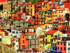 colorful homes in italy (sold 2x) (Rex Montalban Photography) Tags: italy europe liguria cinqueterre manarola hdr rexmontalbanphotography