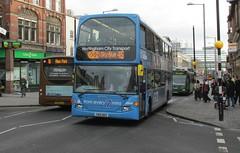 996, Nottingham, 19/02/14 (aecregent) Tags: nottingham 45 scania 996 nottinghamcitytransport optare omnidekka n230ud skyblueline 190214 yr10bdy