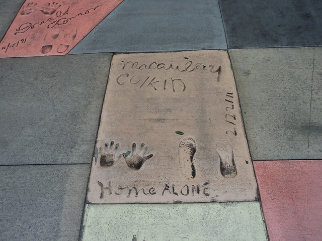 2014-12-08 - Macaulay Culkins foot and hand prints