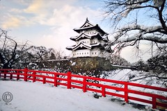 Hirosaki Castle Winter 2014. Glenn E Waters. Japan 2014.. Over 5,000 visits to this photo. (Glenn Waters in Japan.) Tags: winter snow castle japan japanese nikon hirosaki   japon d800  japanesecastle    hirosakicastle  nikond800  glennwaters  glennwatersknife