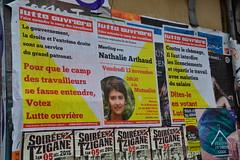 Lutte ouvrire et soire tzigane, Paris Mnilmontant (Jeanne Menj) Tags: paris mnilmontant attentats travailleurs lutteouvrire patronat nathaliearthaud soiretzigane