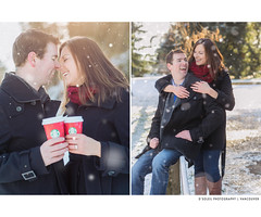 Snow winter engagement session at Queens Park in New Westminster (Daniel[H]) Tags: snow engagement photos engagementphotos engagementsession