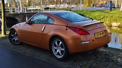 Nissan 350Z Coup (sjoerd.wijsman) Tags: auto orange holland cars netherlands car nissan nederland thenetherlands delft voiture vehicle holanda autos paysbas coupe 350z olanda coup oranje fahrzeug niederlande fairlady nissanz zuidholland fairladyz nissan350z onk carspotting nissanfairladyz carspot sidecode6 27srnf 14122014