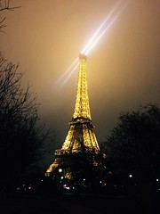Double Eiffel (adrianLwe) Tags: night lumire eiffel sabre toureiffel nuit phare perce