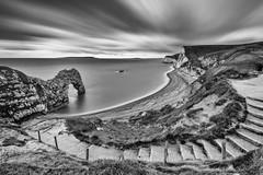 Long look At Durdle Door - Dorset - 17/12/14 (Christopher Pope Photography) Tags: jurassiccoast sand nikon cliffs nikond610 gallery clouds longexposure 2014 beach purbecks web durdledoor seascape waves coast cliff dorset