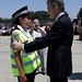 Mauricio Macri toma juramento a cadetes de la Policia Metropolitana.-