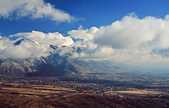 Storm Breaking on the Mountain (JasonCameron) Tags: blue sky snow storm clouds utah fork hills highland alpine american valley cedar