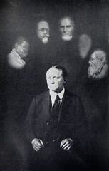 """Spirit Photograph by Alexander Martin in Harry Houdini's book """"A Magician Among the Spirits"""" (1924) (lhboudreau) Tags: book spirit doubleexposure magic books spirits tricks trick psychic fortuneteller spiritphotography magician signed autographed fortunetellers fakes 1924 trickery psychics illusionist houdini escapeartist mediums inscribed firstedition spiritualism harperbrothers fakery frauds fraudulent conmen harryhoudini scamartists hardcoverbooks spiritphotograph hardcoverbook spiritphotographs alexandermartin phonypsychics amagicianamongthespirits phonymediums fraudulentmediums shamartists"""