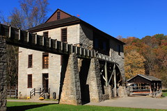 Hamer Mill - Spring Mill State Park, Southern Indiana (danjdavis) Tags: statepark indiana oldmill oldbuilding stonebuilding springmill historicbuilding historicmill springmillstatepark indianastatepark hamermill