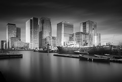 Lord Amory and The City (TS446Photo) Tags: camera city longexposure light england white black reflection london water club boat dock nikon df europe britain dslr 1735mm 10stop ts446