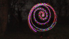Painting with light ( EkkyP ) Tags: light dark painting spiral january led 365 wah 2015 snapseed hereio