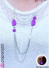 Glimpse of Malibu Purple Necklace K3 P2430-3