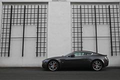 Aston Martin V8 Vantage (sumosloths) Tags: california city white black wall bar mall shopping dark grey lights design am cool san francisco martin random south tail gray center things spot charcoal area delivery backdrop spotted westboro v8 aston taillights vantage v12 westborough carspotting randomass worldcars v8v westbourogh