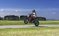wheelie - Test of the traction control (rockymotard) Tags: alps monster switzerland swiss ducati wheelie 1200s