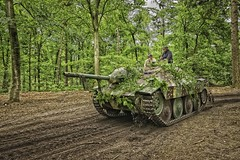 Jagpantzer 38 (Hetzer).... (ParadoX_Design) Tags: world 2 army sand woods war gun driving tank action nazi wwii barrel tracks battle destroyer german ww2 vehicle soldiers hunter operation invasion aintree armoured 2016 overloon pantzer tankhunter tankcommander militracks