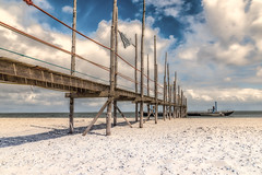 Tropical (mcalma68) Tags: seascape beach netherlands clouds pier sand jetty tropic texel