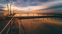 Over the Pool (scotty-70) Tags: longexposure morning water pool sunrise dawn sony voigtlander australia nsw a7 monavale oceanpool