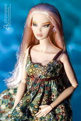 Selena (astramaore) Tags: blue summer green beauty fashion yellow toy glamour doll dress side blonde 16 chic brighter dollphotography kyori fashionroyalty integritytoys longstraighthair astramaore