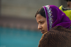 Faces of India | Lotus Temple | Delhi (Hadi Zaher) Tags: travel portrait people india face temple lotus delhi indian profile orient ethnic