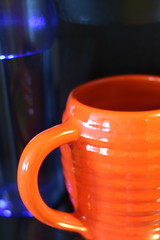Can't  Live Without (Explored 5-11-16...thanks so much!) (opal c) Tags: orange coffee bauer pottery orangeandblue bauerpottery