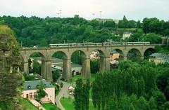 2x CFL 250 - Luxemburg, juli 1996 (dloc567) Tags: train zug luxembourg luxemburg trein cfl inox moulinex zuch ltzebuerg z250