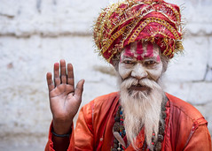 Varanasi Sadhu (phil.w) Tags: street old city portrait orange india man beard photography pentax religion monk holy varanasi ash turban shiva hindu limited hinduism sadhu saffron ascetic trident benares smcpfa31mmf18 sanyassi