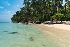Strand auf Zapatilla Panama