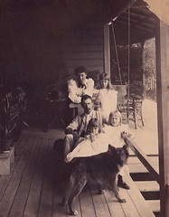 Mr and Mrs Conrad C. Dornbusch and children at 'Avalon' in Warwick, Qld - 1899 (Aussie~mobs) Tags: family house home australia queensland verandah residence warwick avalon alderman 1899 conradcobdendornbusch